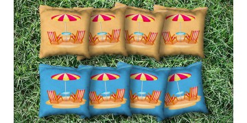 The Flip Flop Zones - 8 Cornhole Bags