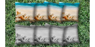 The Seashell Wishes - 8 Cornhole Bags