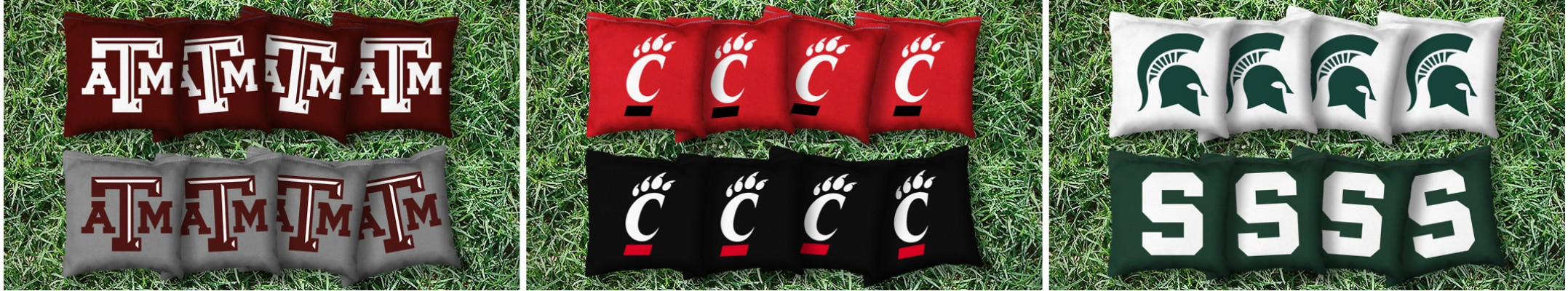 The College Logo Cornhole Bags