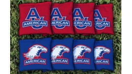 American University Cornhole Bags - set of 8