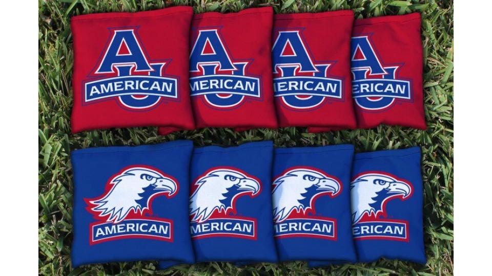 American University Cornhole Bags - set of 8