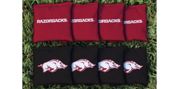 Arkansas University of Cornhole Bags - set of 8
