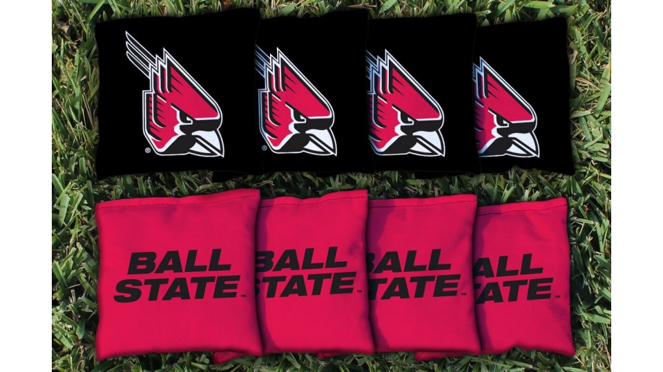 Ball State University Cornhole Bags - set of 8