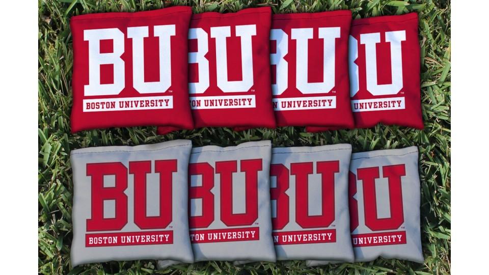 Boston University Cornhole Bags - set of 8