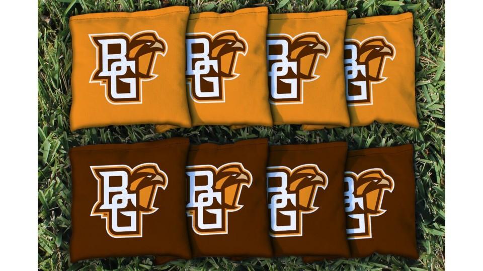 Bowling Green State University Cornhole Bags - set of 8