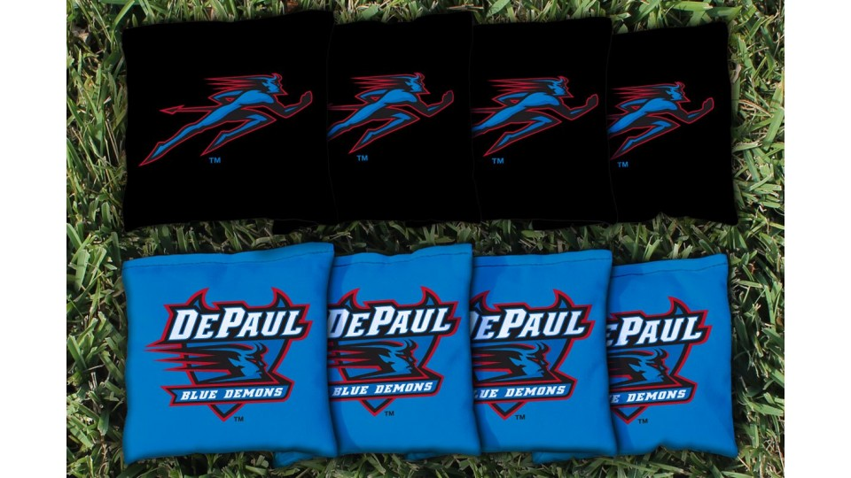DePaul University Cornhole Bags - set of 8