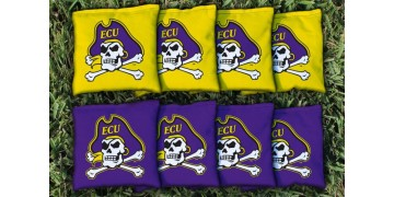 East Carolina University Cornhole Bags - set of 8