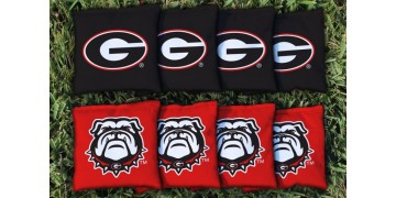 Georgia University of Cornhole Bags - set of 8