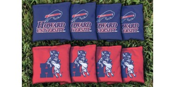 Howard University Cornhole Bags - set of 8