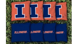 Illinois University of Cornhole Bags - set of 8