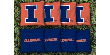 Illinois University of Cornhole Bags - set of 8