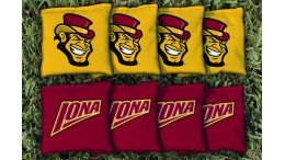 Iona College Cornhole Bags - set of 8