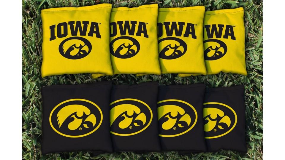 Iowa University of Cornhole Bags - set of 8