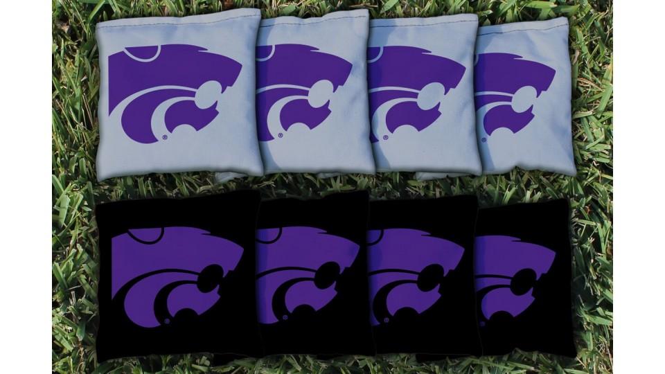 Kansas State University Cornhole Bags - set of 8