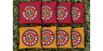 Louisiana Lafayette University of Cornhole Bags - set of 8