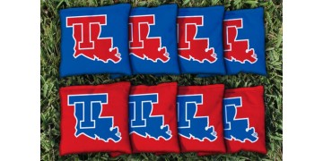Louisiana Tech University Cornhole Bags - set of 8