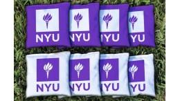 New York University Cornhole Bags - set of 8