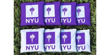 New York University Cornhole Bags - set of 8