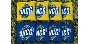 North Carolina Greensboro University of Cornhole Bags - set of 8