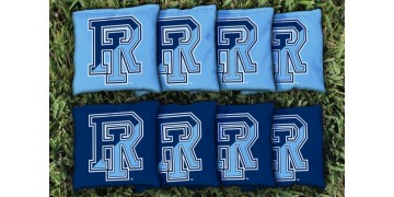 Rhode Island University of Cornhole Bags - set of 8