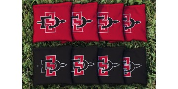 San Diego State Cornhole Bags - set of 8