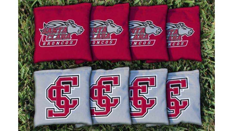 Santa Clara University Cornhole Bags - set of 8