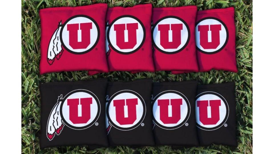 Utah University of Cornhole Bags - set of 8