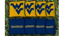 West Virginia University Cornhole Bags - set of 8