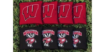 Wisconsin University of Cornhole Bags - set of 8