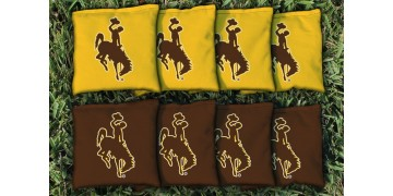 Wyoming University of Cornhole Bags - set of 8