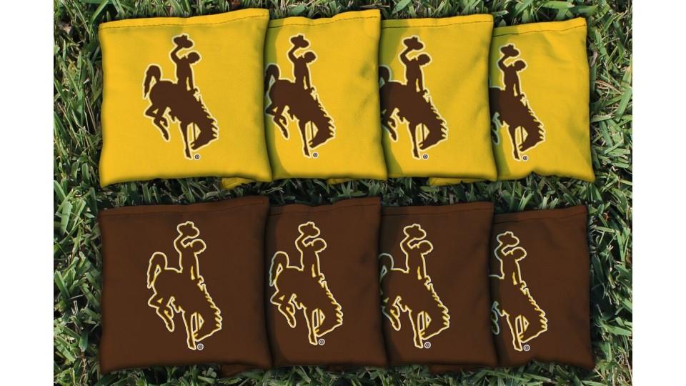 Wyoming University of Cornhole Bags - set of 8