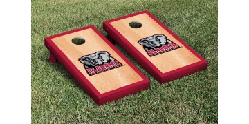 Alabama University of Hardwood Border Cornhole Boards