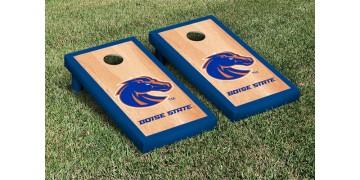 Boise State University Hardwood Border Cornhole Boards