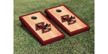 Boston College Hardwood Border Cornhole Boards