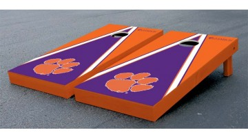 Clemson University Triangle Cornhole Boards