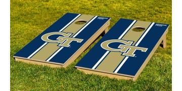 Georgia Tech University Stripe Cornhole Boards