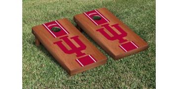 Indiana University Hardwood Stripe Cornhole Boards