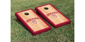 Indiana University Hardwood Border Cornhole Boards