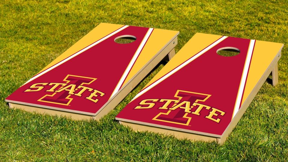 Iowa State University Triangle Cornhole Boards