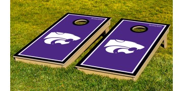Kansas State University Border Cornhole Boards