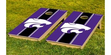 Kansas State University Stripe Cornhole Boards