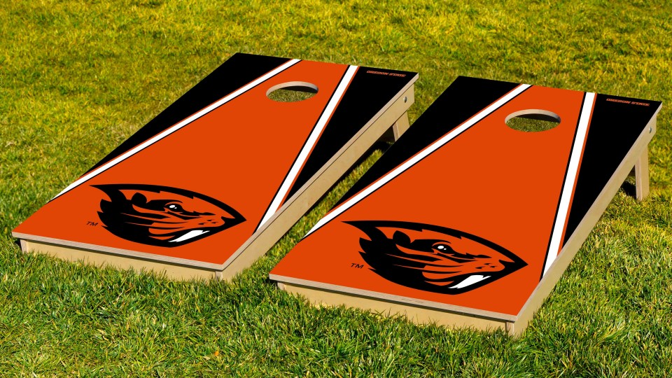 Oregon State University Triangle Cornhole Boards