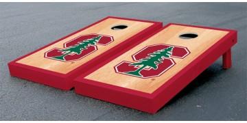 Stanford University Hardwood Border Cornhole Boards