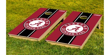 Alabama University of Stripe Cornhole Boards