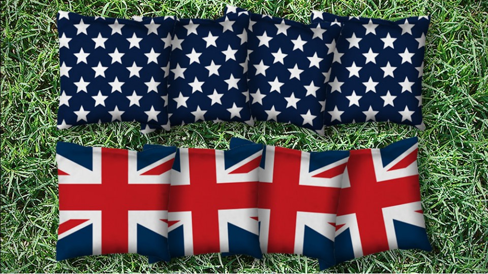 The Brits and Mericas- 8 Cornhole Bags