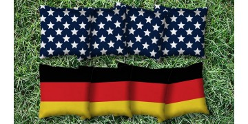 The Deutschlands and Mericas - 8 Cornhole Bags