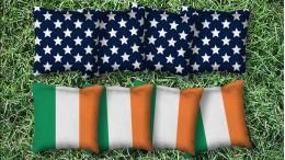 The Irish and Mericas - 8 Cornhole Bags