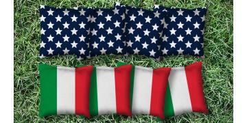 The Italians and Mericas - 8 Cornhole Bags