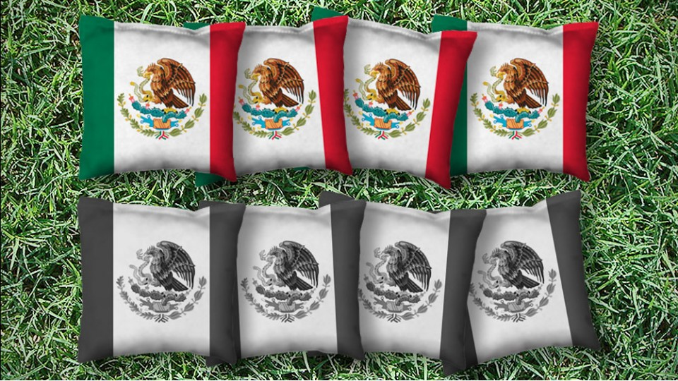 The Mexi(Cans) - 8 Cornhole Bags