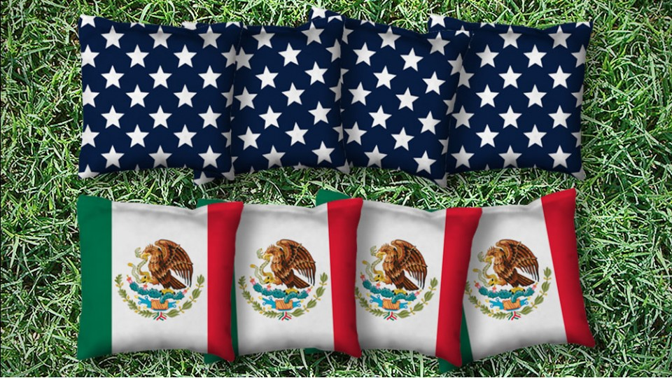 The Mexi(Cans) and Mericas - 8 Cornhole Bags